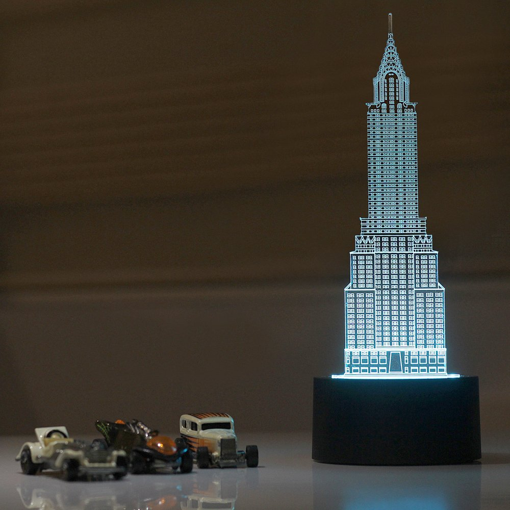 Chrysler Building LED Night lamp, Modern Decorative USB Lamp: Amazon.co.uk:  Lighting