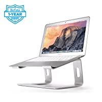 BoYata Laptop Stand, Elevator Computer Laptop Holder: Dismountable Ventilated Notebook Stand for Apple MacBook Pro/Air, HP, Dell, Lenovo, Samsung, Acer, HUAWEI MateBook, Toshiba (Silver)