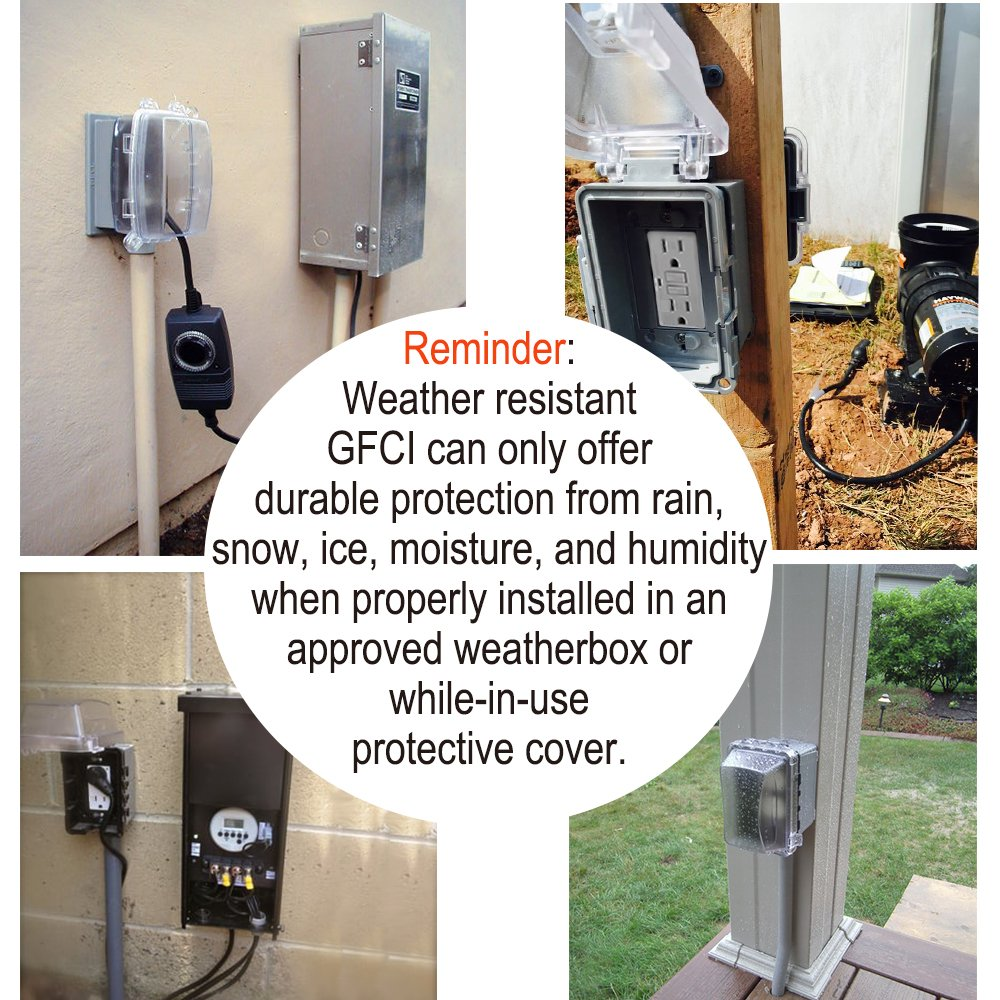 5 Pack Bestten Weather Resistant Wr Self Test Gfci Receptacle An Overview Of Groundfault Circuit Interrupter Eep