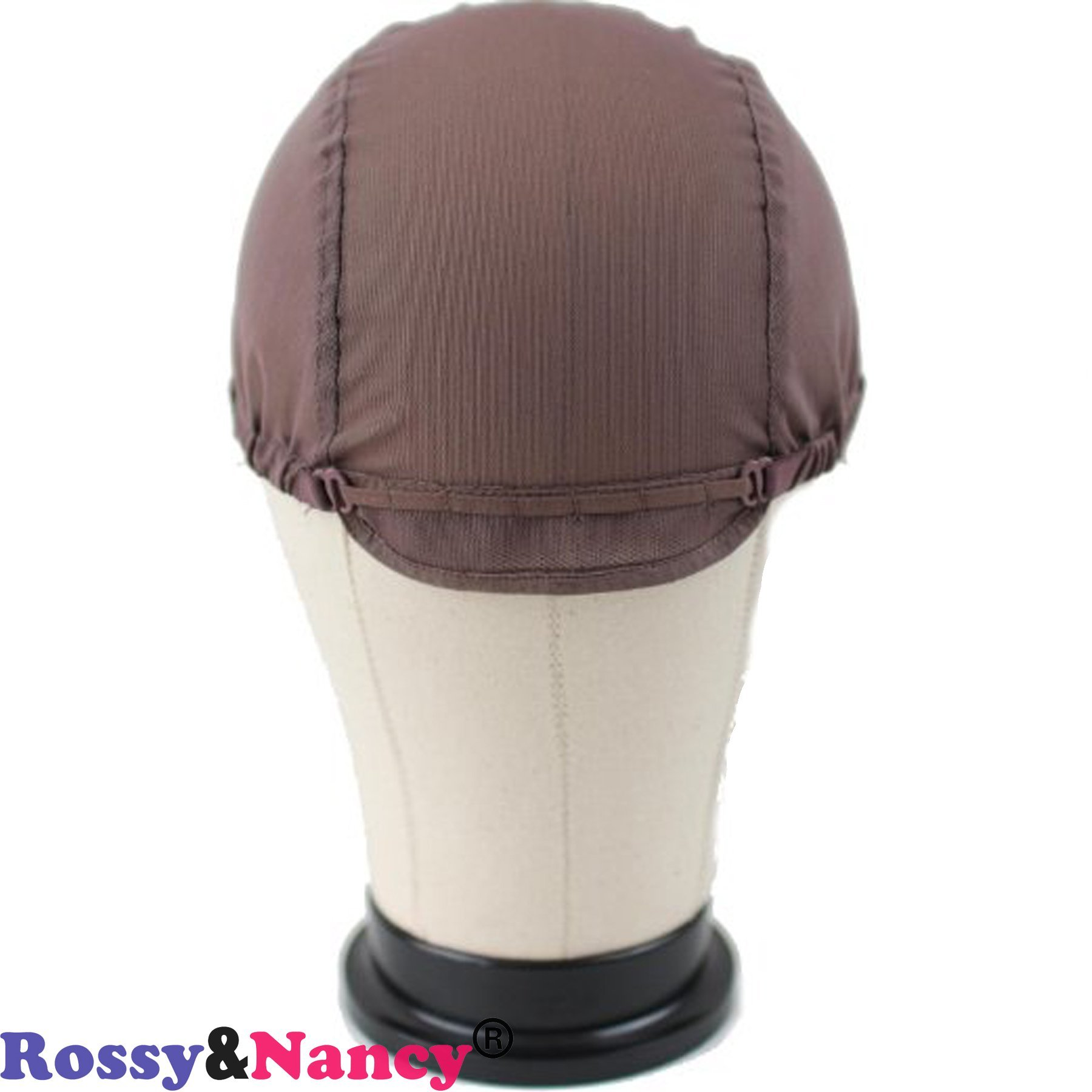 Rossy&Nancy Best Gluess Silk Swiss Lace Net Ear to ear stretch wig caps with adjustable straps for making Wigs by Rossy&Nancy (Image #3)
