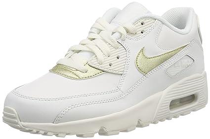 new styles 0ea6f b0e7f Nike Air MAX 90 LTR (GS), Zapatillas de Gimnasia para Niñas, Blanco