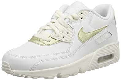 Nike Damen Air Max 90 Ltr (gs) Traillaufschuhe, Weiß (Summit White ...