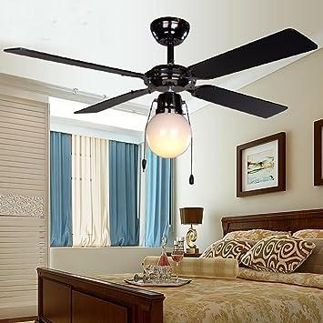 Chandelier ventilateur de plafond minimaliste salon ...