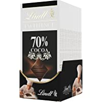 Lindt Excellence Bar, 70% Cocoa Smooth Dark Chocolate, Gluten Free, Great for Holiday Gifting, 3.5 Ounce (Pack of 12)