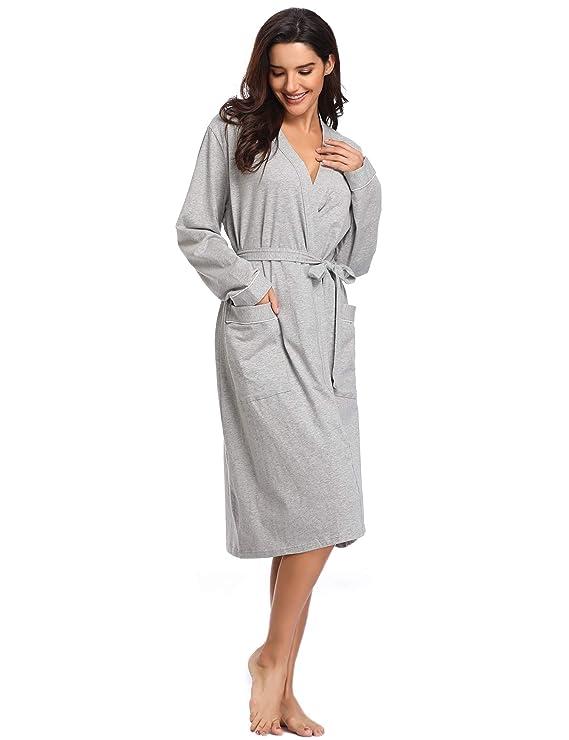 13e3c799713f60 Lusofie Nachthemd Damen Lang Robe Baumwolle Reißverschluss Vorderseite  Kapuzen Nachtwäsche Flanell klassisch Plaid Schlafshirt: Amazon.de:  Bekleidung