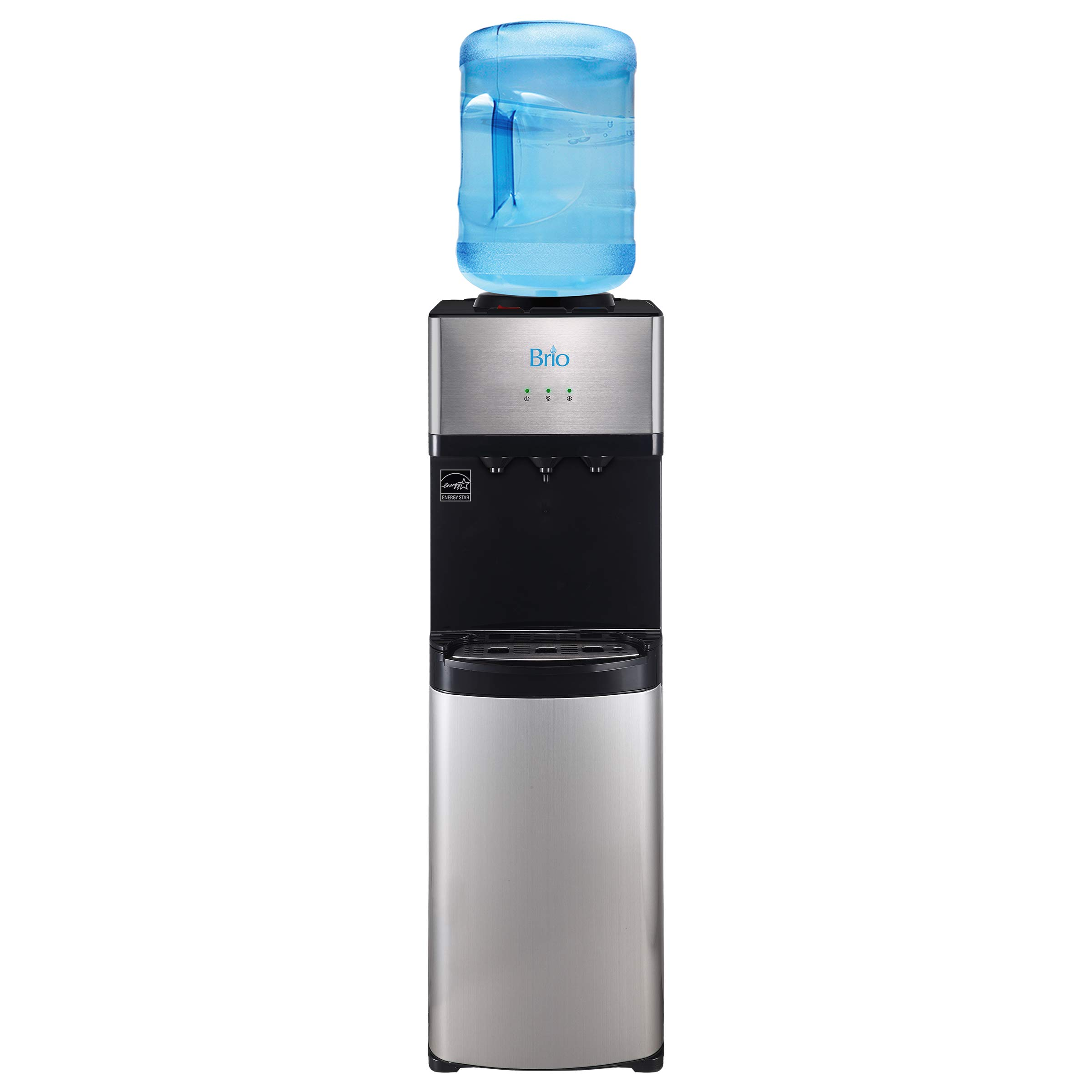 Brio Limited Edition Top Loading Water Cooler Dispenser - Hot & Cold Water, Child Safety Lock, Holds 3 or 5 Gallon Bottles - UL/Energy Star Approved by Brio