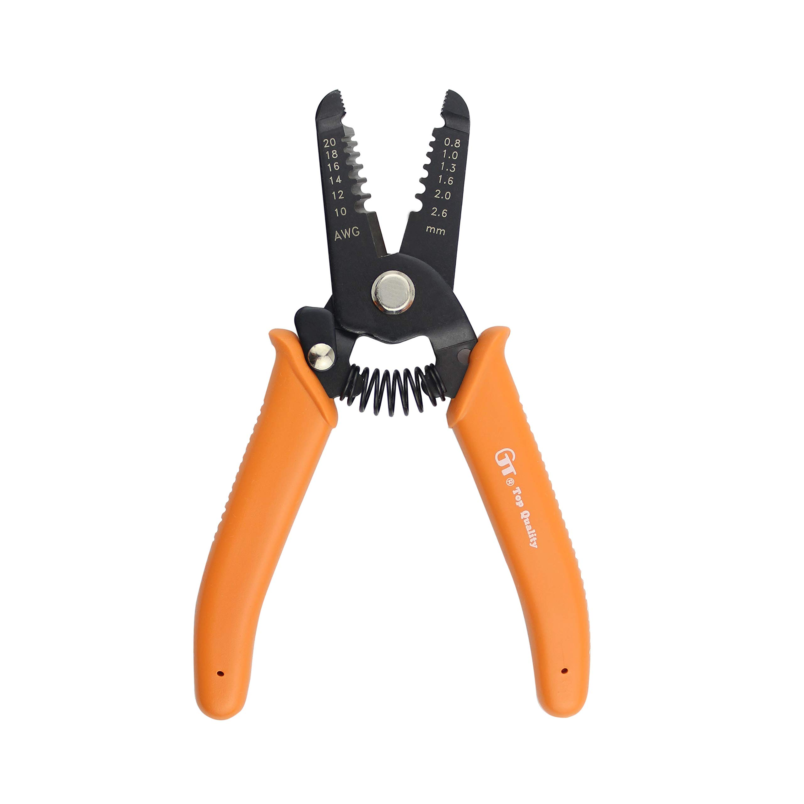 "J.VOLT HTL3260 Wire Stripper 10-20 AWG, Stranded Wire Cutter, Solid Wire Cutter, with Safety Lock. 6"" Compact Size"