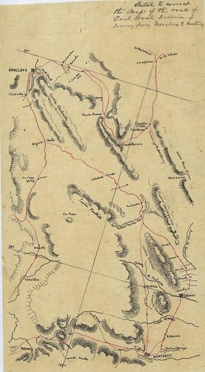 Amazon Com 1846 Map Nuevo Leon Mexico Sketch To Correct The Maps Of