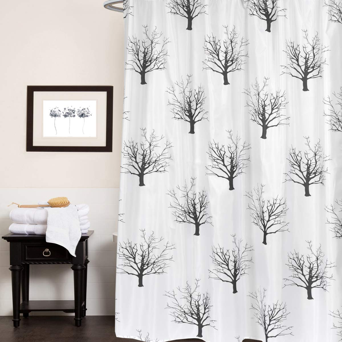 Fun Designs for Shower Stalls /& Bathtubs Extra Long Multi Anti-Mildew Material Machine Washable Fabric Water Resistant Easy Hang Sweet Home Collection Curtain