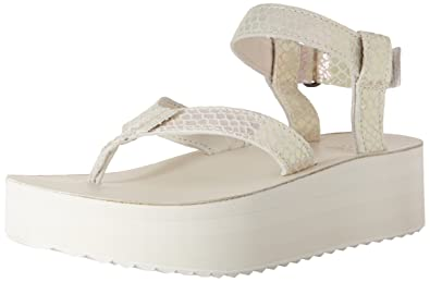 38a4ced85f Amazon.com | Teva Women's Flatform Sandal Iridescent Sandal, White ...