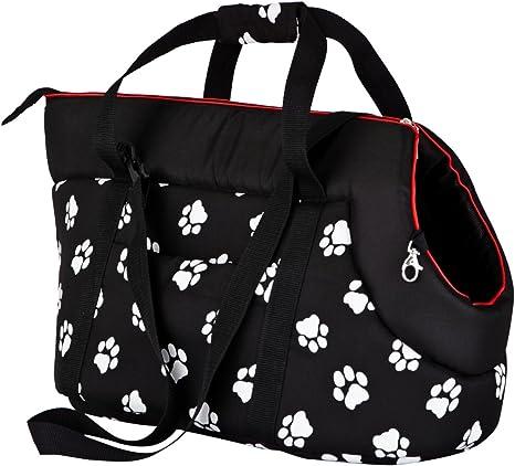 Bolsa de Transporte para Perros y Gatos Hobbydog tama/ño 3 Color Beige con Estampado de Patas