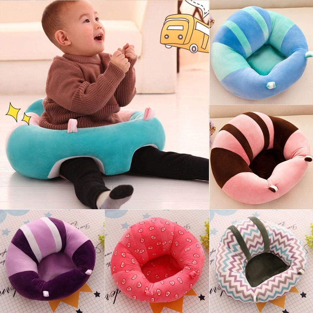 Almost Infant Sitting Chair Baby Safe Sitting Chair Comfortable Infant Soft Floor Support Seat Baby Learning to Sit Head Protect Chair