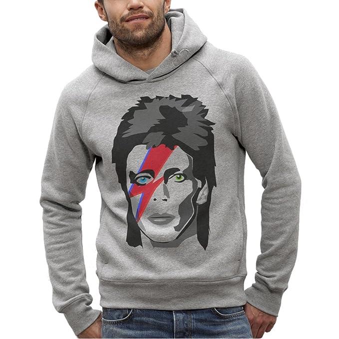 The French Tee Shirt by ArteCita Sudadera Bio Imprimé Gris con Capucha - David Bowie Major Tom - Hombre del XS AU XXL: Amazon.es: Ropa y accesorios