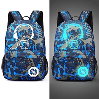 Luminous Casual Backpack, Noctilucence Colorful Canvas Laptop Bag, Shoulder Bag, School Cute rucksack, Canvas Schoolbag, Work Bag, Casual Bag, kids, Teenagers, College Students on sale