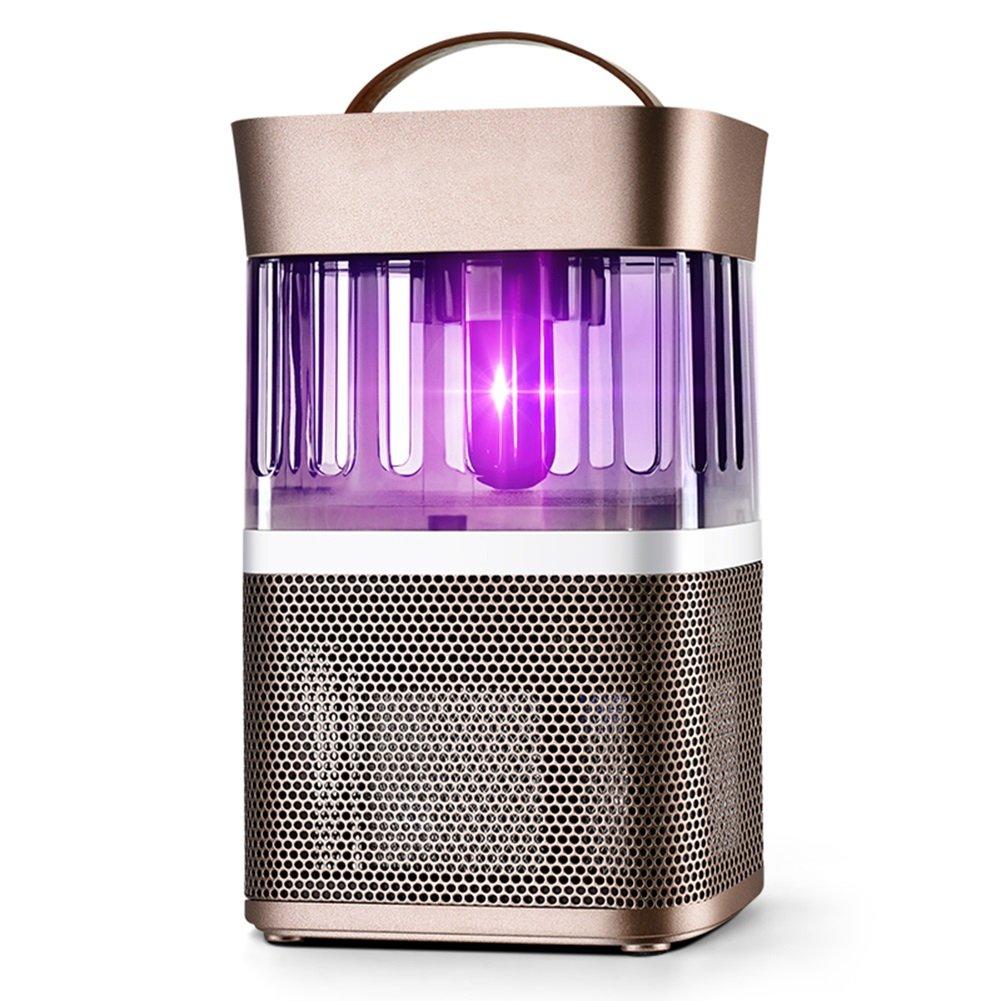 LIANGLIANG 害虫駆除屋内吸入道UV吸引インテリジェントな光制御サイレント放射線フリーゴールデン、16 * 16 * 25.9cm B07DP2KWKZ