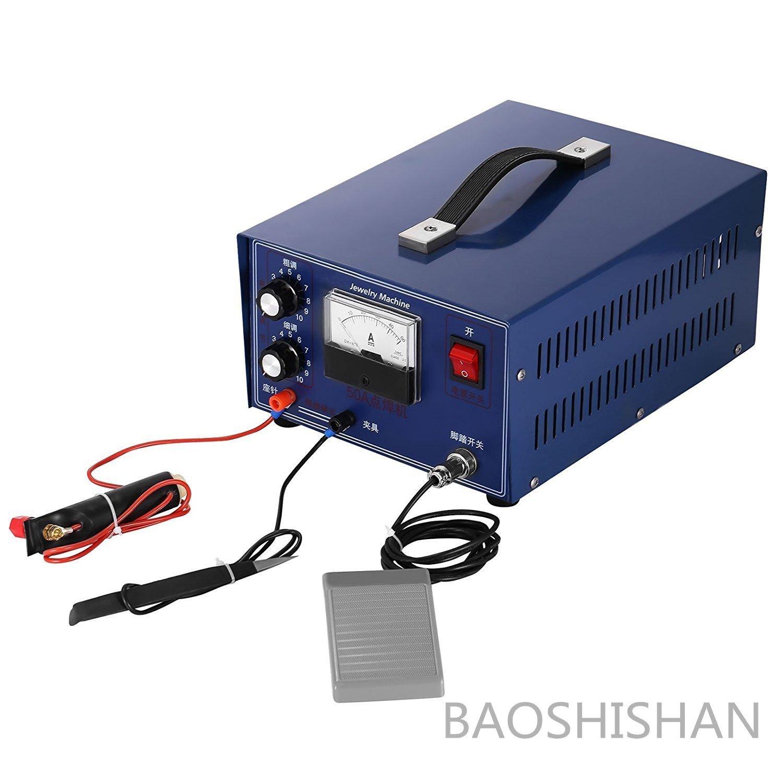 BAOSHISHAN 110V/220V 50A 400W専用交流アークス溶接機 ポット溶接機 ハンドヘルドパルス 金銀プラチナ溶接マシン リングウェルダー 超強力型 ジュエリーツール 卓上 DIY道具 加工機 (110V) B07C8H1N2Y 110V
