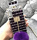 Losin Perfume Case Compatible with Apple iPhone 7 / iPhone 8 / iPhone SE 2020 4.7 Inch Luxury Bling Diamond Rhinestone…