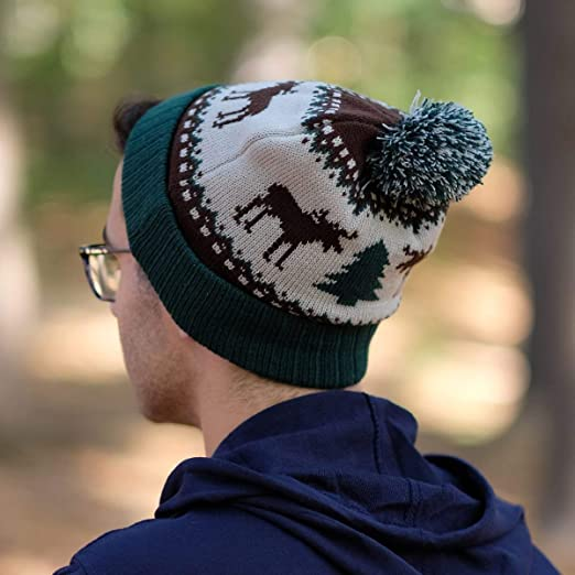 a3024b46a09e9a Amazon.com: Ugly Moose North Woods Knit Winter Hat: Clothing