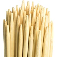 Marshmallow Smores Roasting Bamboo Sticks 110-Pack Extra Long - Safe For Kids Design 36 Inch, 5mm Thick Wooden, Disposable Biodegradable Skewers Outdoor BBQ/Firepit, Hot Dogs, Kebab, S'Mores