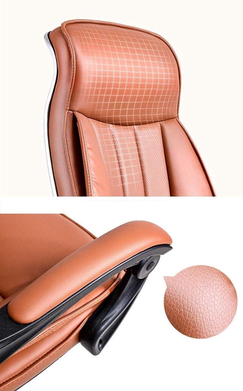 Kontorsstol LHY datorstol hushåll skrivbord och stol chef stol personalstol läder svängbar stol ergonomisk fåtölj hållbar (färg: Svart 1) Svart 1