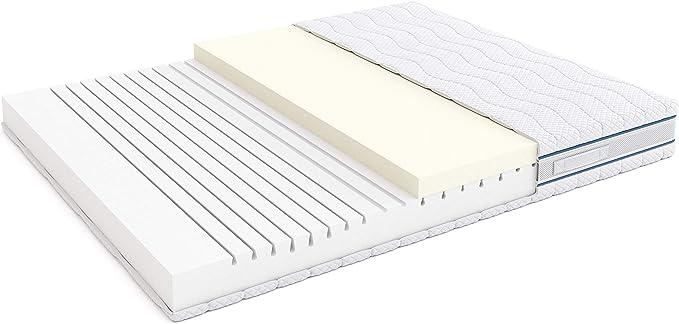 Marchio  -/Alkove double face in memory foam e lattice Materasso matrimoniale a tripla densit/à con coprimaterasso Sanitized/® rimovibile 160 x 190 x 23 cm