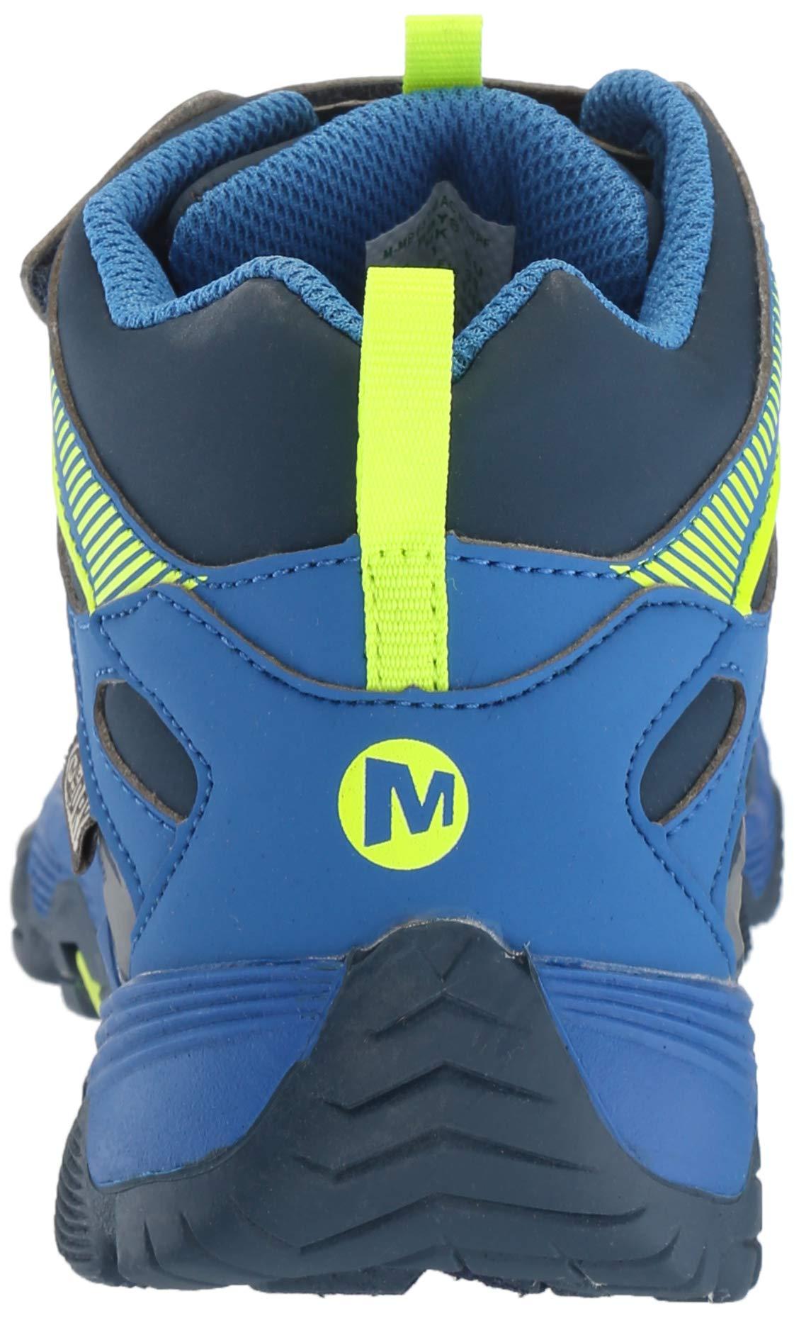 Merrell Boys' Moab FST Mid A/C WTRPF Hiking Shoe, Navy/Cobalt, 6 Medium US Big Kid by Merrell (Image #2)