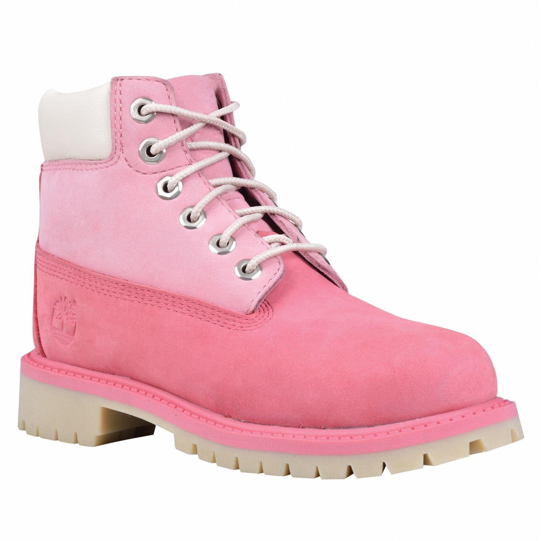 Timberland 6'' Waterproof Boots Unisex Juniors (6.5 Y US, Pink/Pink )