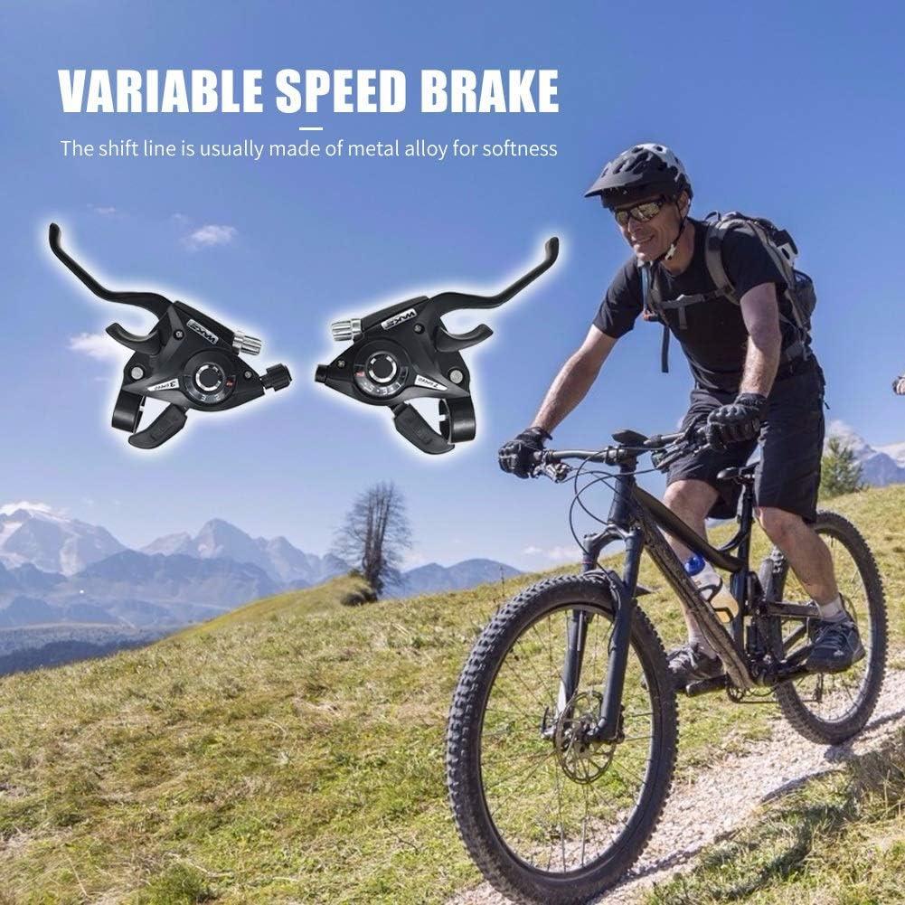 YOBAIH 3x7 8S Velocidad de Bicicletas Disco Mango Palanca de Cambios de monta/ña Bicicleta de Carretera de Freno de activaci/ón Shifter Montar Accesorios de Ciclismo Manetas Freno Bicicleta