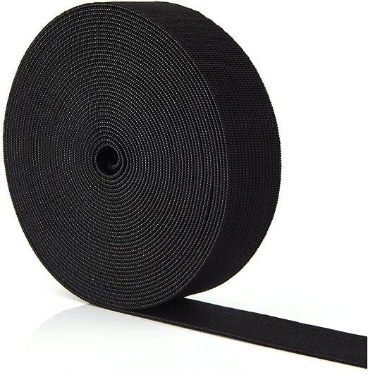 Cinta elástica plana para coser, color blanco o negro, se vende ...