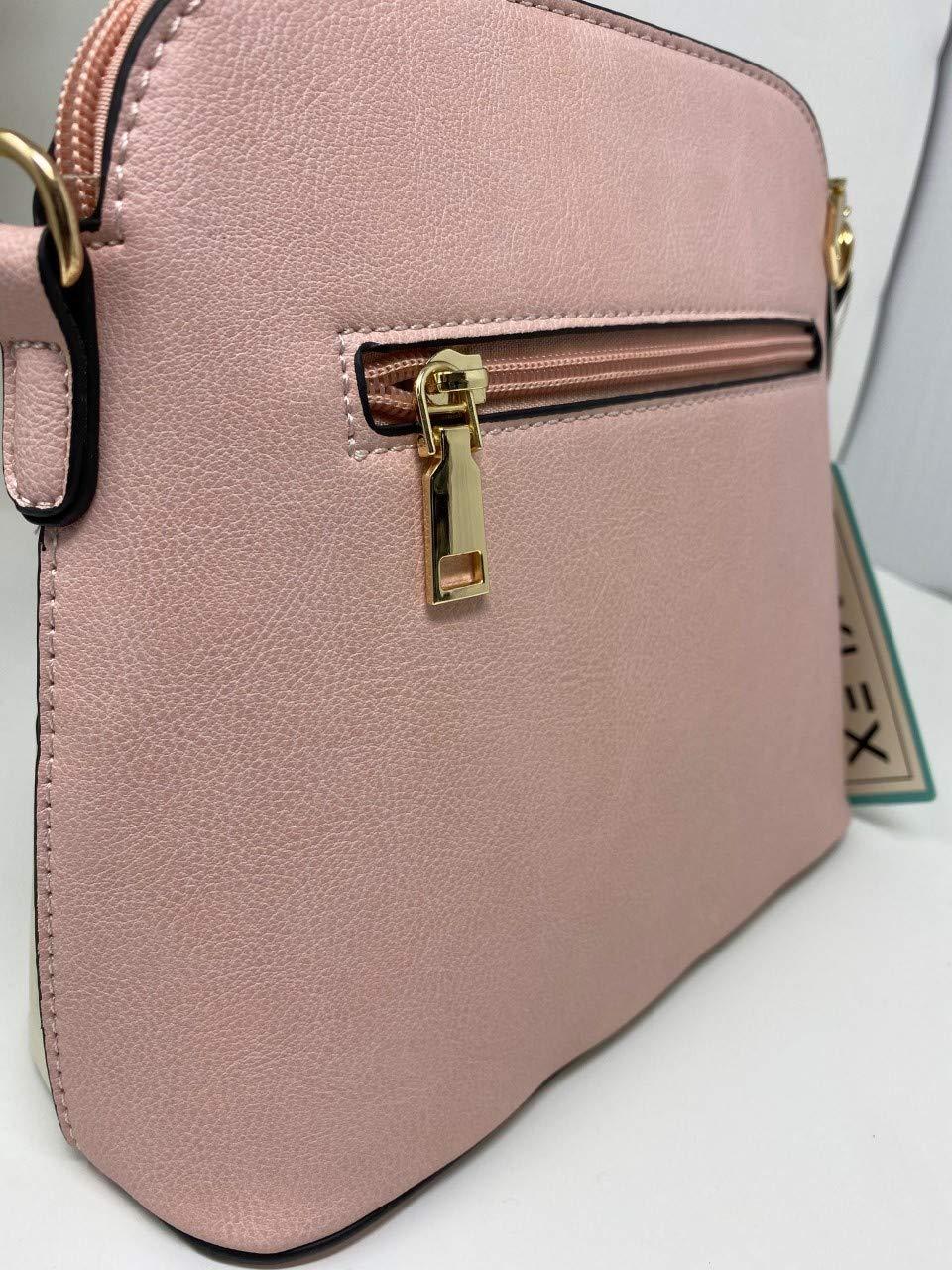 LeahWard damkvalitet konstläder korskroppen väskor tofs axelväska handväskor för semesterfest 1061 White Top Yellow Bottom