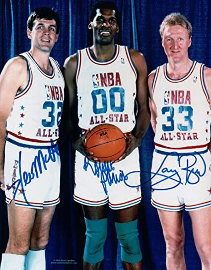 competitive price 86e64 cd19a Larry Bird Robert Parish Kevin McHale 3X Signed 8X10 Photo ...