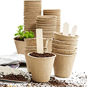 "U+ME 3"" Seed Starter Peat Pots for Sprouting Seeds 