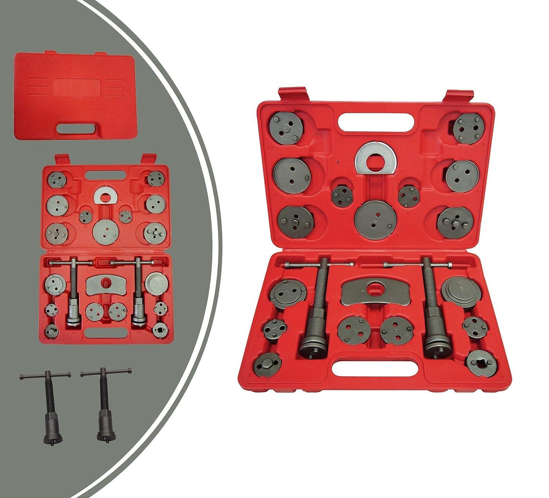 Leogreen - Kit Riparazione Freni, Kit Strumenti Freni, 21 Parti, con custodia rossa, Materiale: Acciaio C45