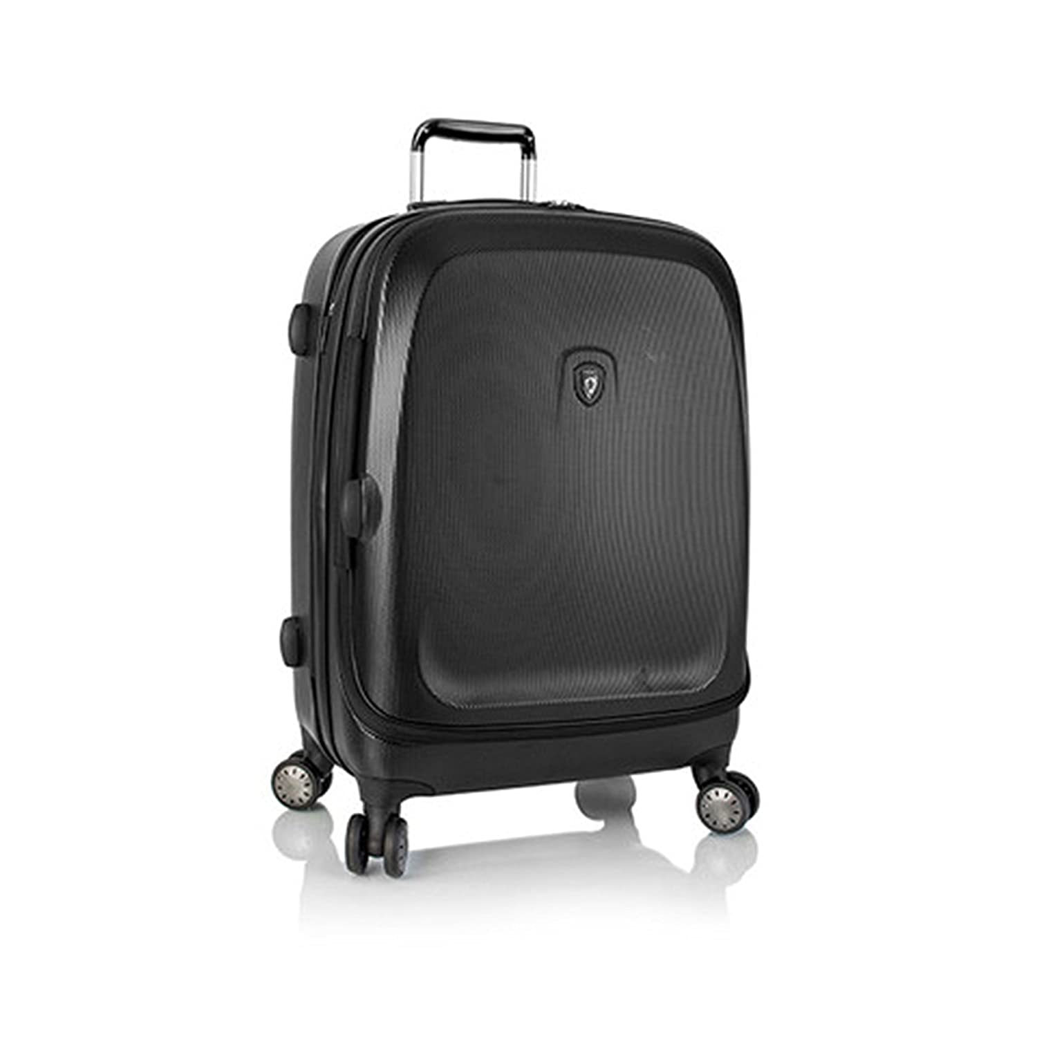 ... 50% SALE ... PREMIUM DESIGNER Hartschalen Koffer - Heys Crown Smart Gateway Schwarz Trolley mit 4 Rollen Medium