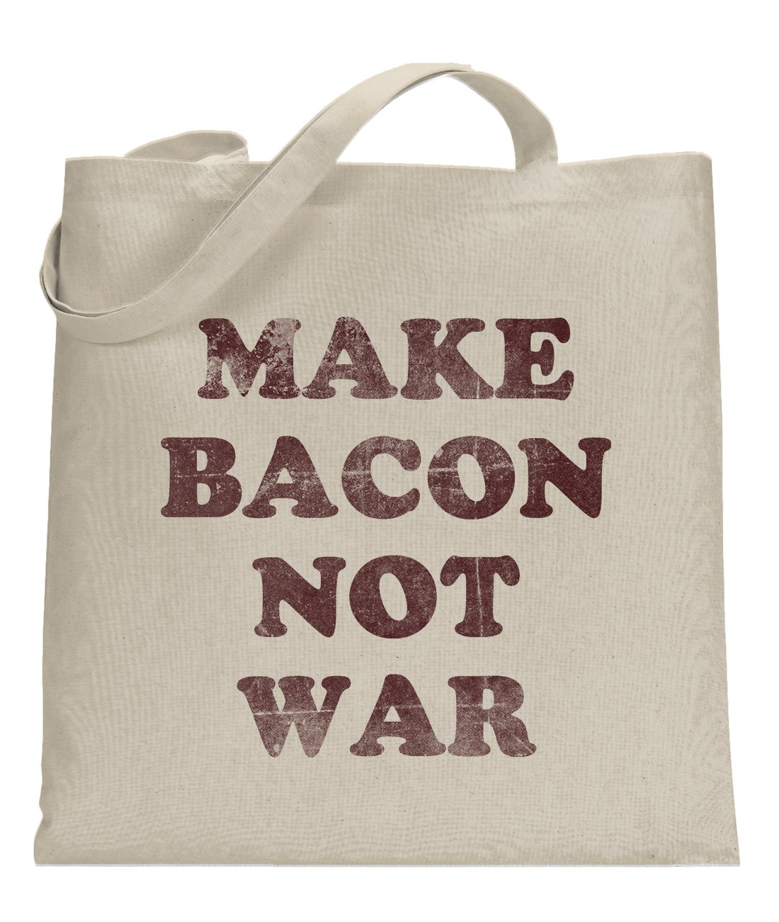 Crazy Dog Make Bacon Not War Universal Tote Bag Funny Food Themed Tote standard