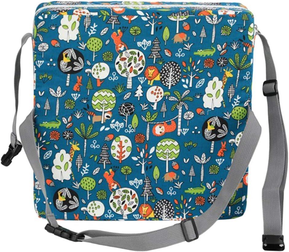 Tomaibaby 1 Pz Sedia da Pranzo per Bambini Cuscino Crescente Bambino Portatile Smontabile Seggiolone Cuscino di Rialzo Grigio