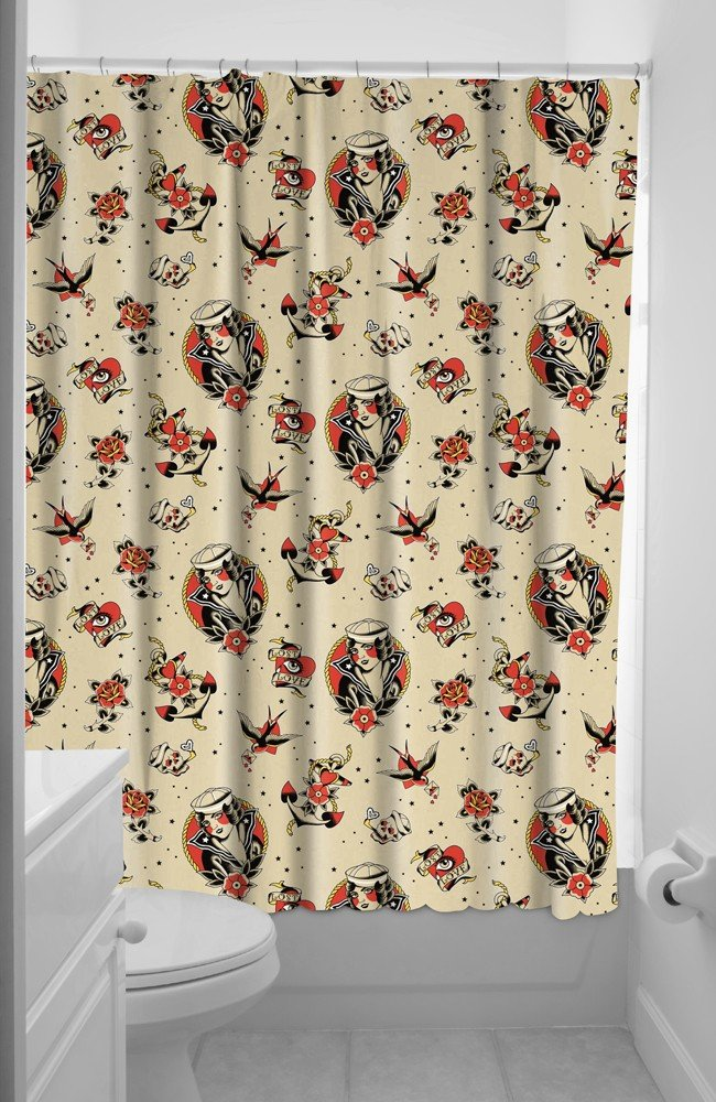Amazon.com: Sourpuss Lost Love Shower Curtain: Home & Kitchen