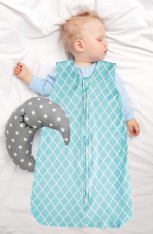 Jomolly Baby Jungen Schlafsack grau Wolke Chevron 0-3 Monate