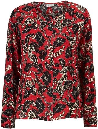 Masai Clothing INES Camisa floral roja: Amazon.es: Ropa y ...