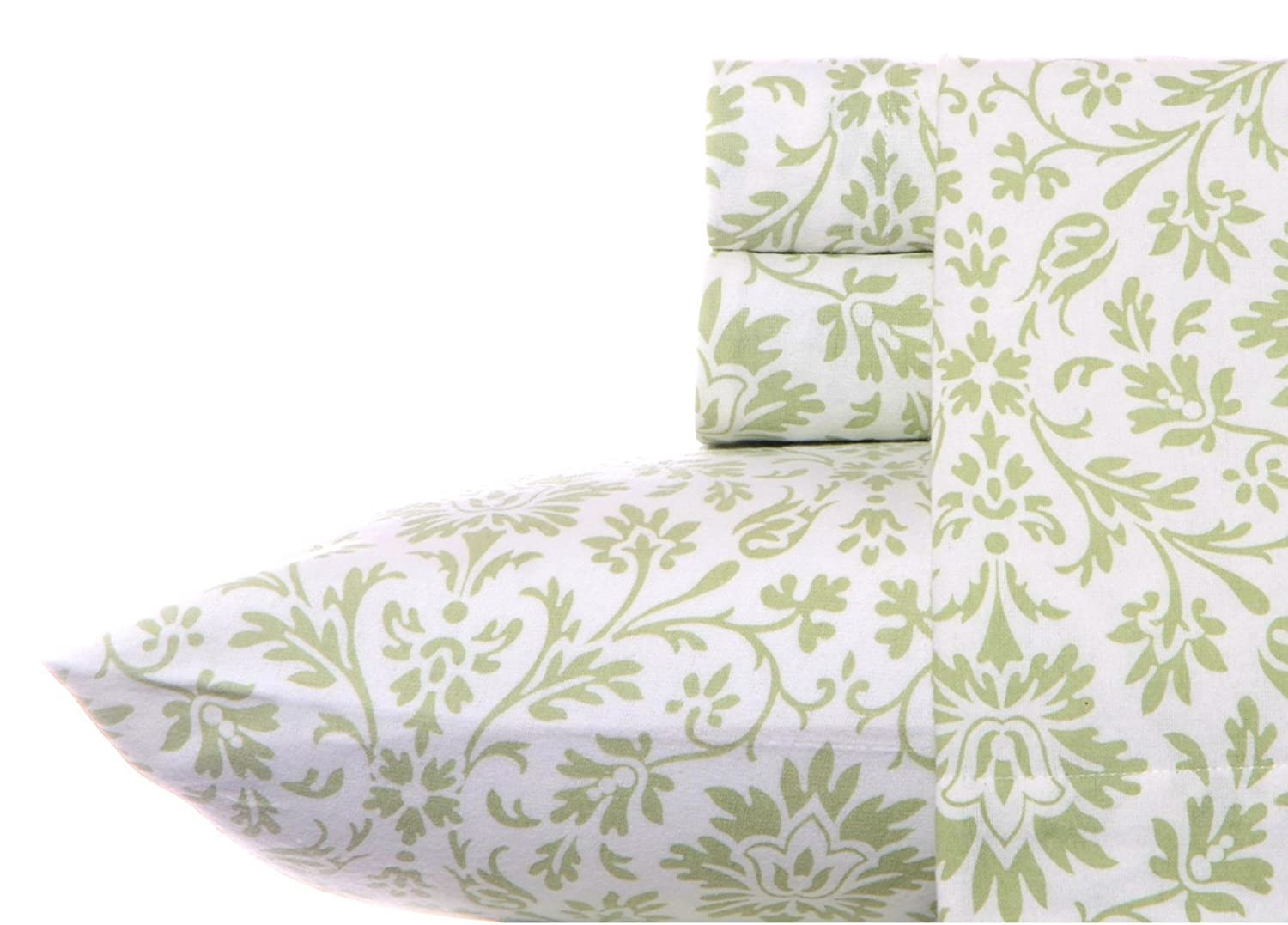 Laura Ashley Flannel Sheet Set, Jayden Sage, Twin