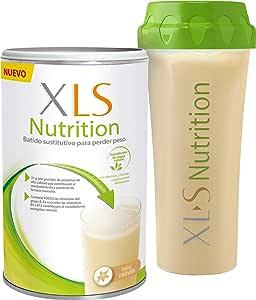XLS Medical Nutrition Vainilla + Shaker de regalo - Batido sustitutivo de comidas para perder peso - Ingredientes de origen natural - contiene todas las vitaminas del grupo B - Sin gluten - 400 g