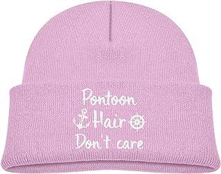 Lapptty Cap Pontoon Hair Don't Care Boy Girl Beanie Hat Knitted Beanie Knit Beanie