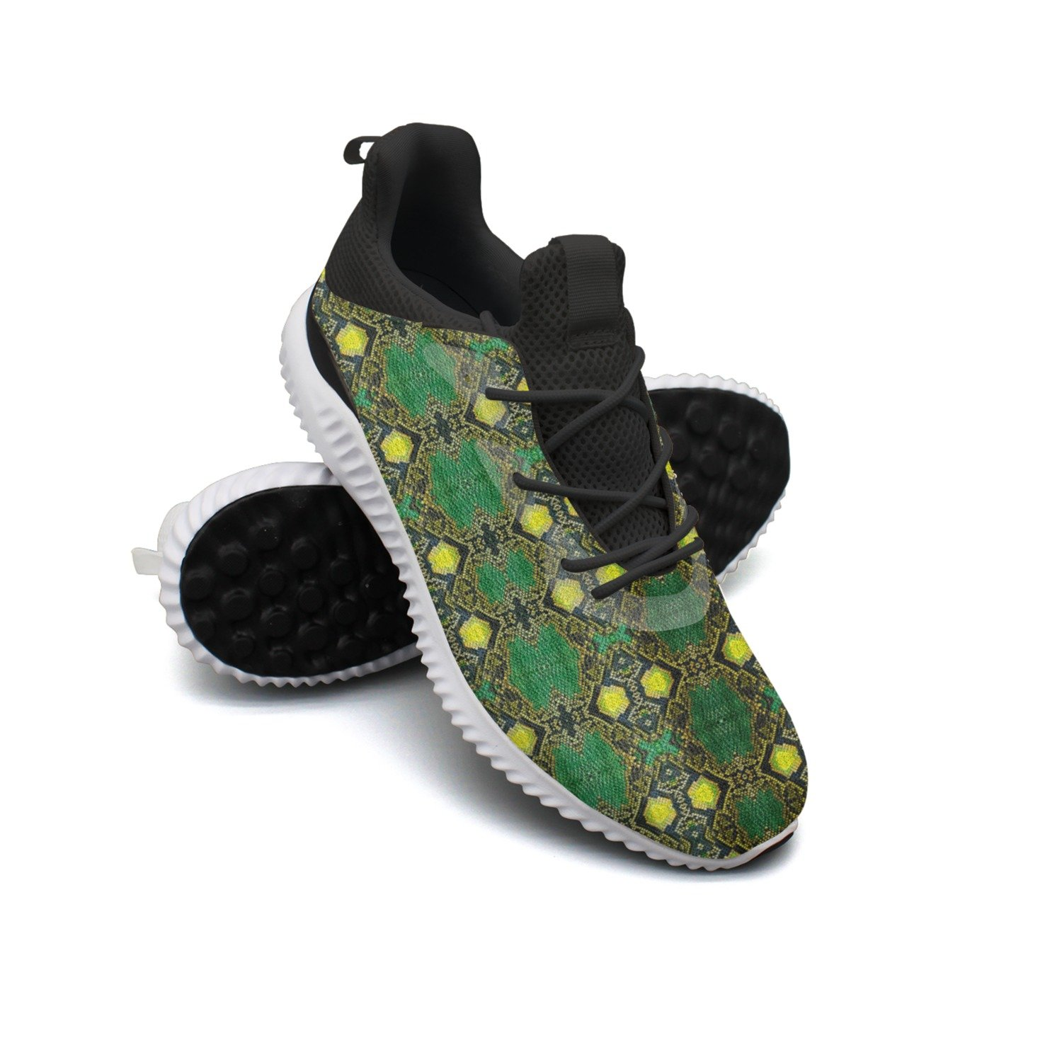 Green Snake Skin Leisure Design Running Shoes Womens Printing Cool Colorful