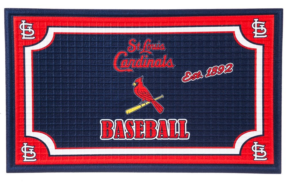 Team Sports America St. Louis Cardinals Embossed Floor Mat, 18 x 30 inches
