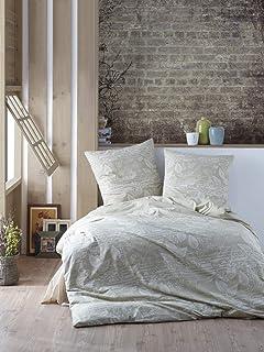 Dynamic24 3tlg Bettwäsche 240x220 Baumwolle Bettdecke Bettgarnitur