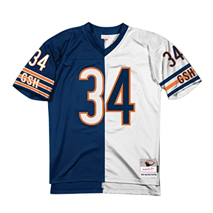 1fdcdd84c50 Mitchell & Ness Walter Payton Chicago Bears Split Home & Away Jersey ...
