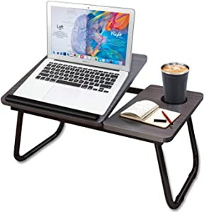 Laptop Stand, Bed Tray Table with Foldable Legs, Angle Adjustable Lap Table Working from Home, Folding Portable Computer Table for Writing Eating Surfing Reading, Breakfast Serving, Sofa Couch
