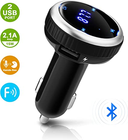 New Wireless Bluetooth V4.2 Car Kit Hand-Free Dual USB Car Charger MP3 Player