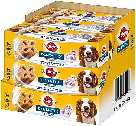 Pedigree DentaStix Advance 2x Wöchentlich Hundeleckerli für große Hunde +25kg, Kausnack mit Huhn- und Rindgeschmack gegen Zah