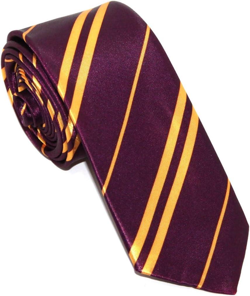 Corbata de colegio para disfraz de niños y adultos, color morado: Amazon.es: Juguetes y juegos